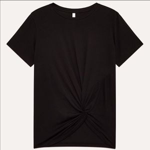 Aritzia babaton foundation knot tee black small